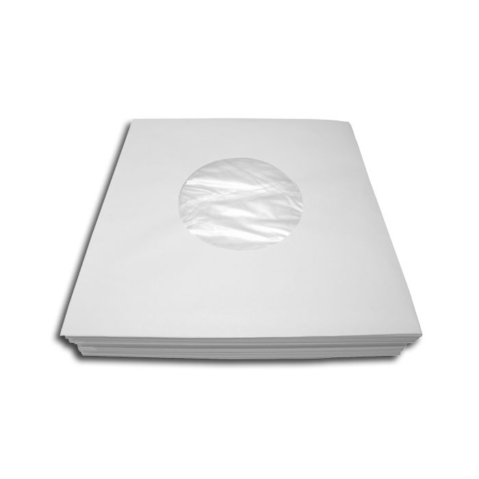 White Polylined Record  Inner Sleeves